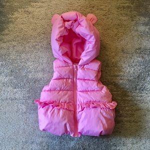 Gymboree Pink Sparkle Puffer Vest